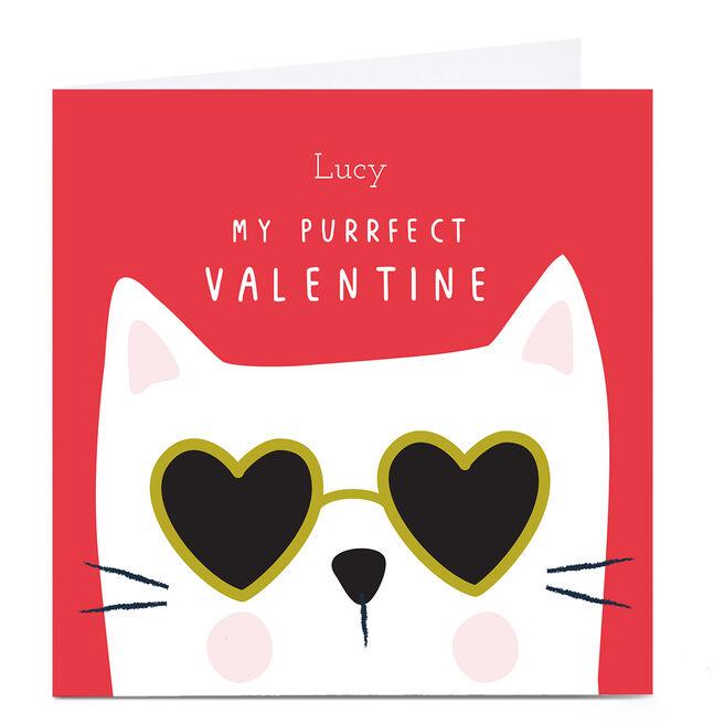Personalised Klara Hawkins Valentine's Day Card - My Purrfect Valentine
