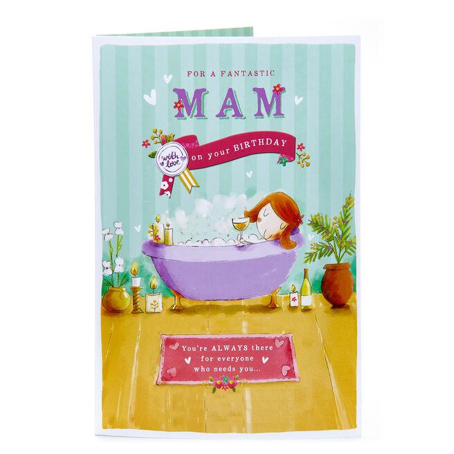 Birthday Card - For A Fantastic Mam