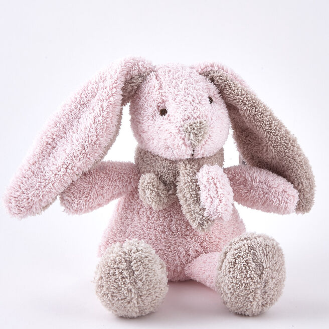 Tiny Treasures - Pink Rabbit Towel Plushie