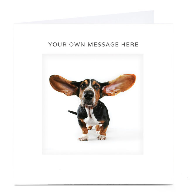 Personalised Card - Big Eared Dog