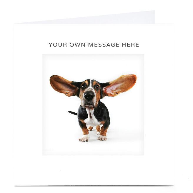 Personalised Card - Big Eared Dog