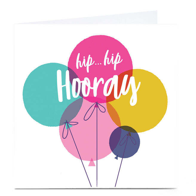 Personalised Hello Munki Card - Hip Hip Hooray