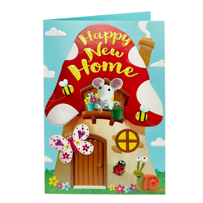 New Home Card - Toadstool House