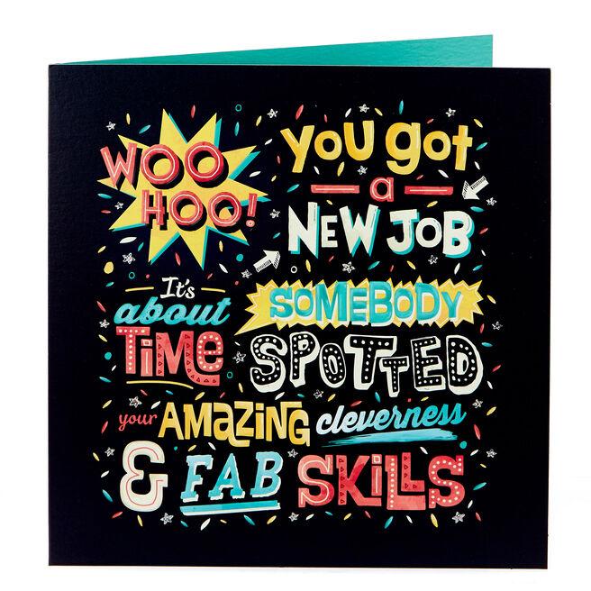 Platinum Collection New Job Card - Woo Hoo!
