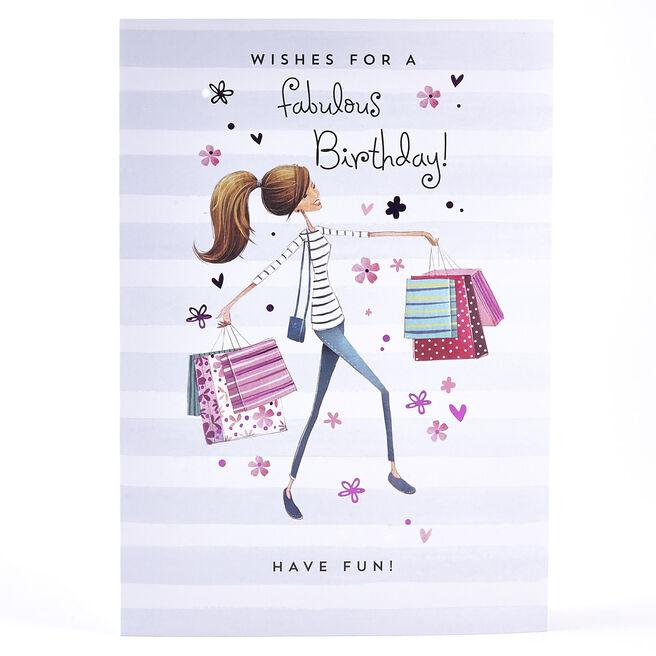 Birthday Card - Shopping Spree