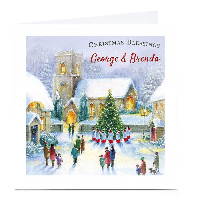 Personalised Christmas Card - Christmas Blessings