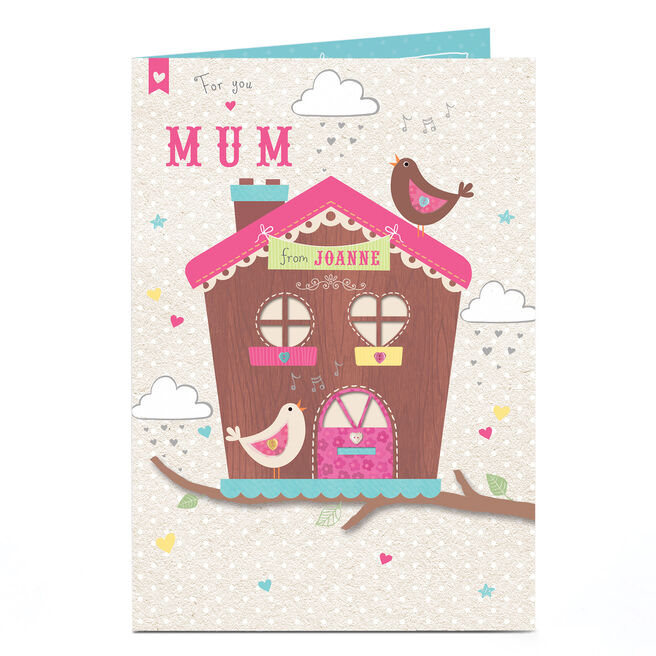 Personalised Card - Bird House