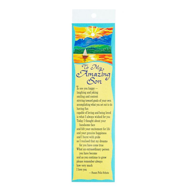 Blue Mountain Arts Bookmark - To My Amazing Son