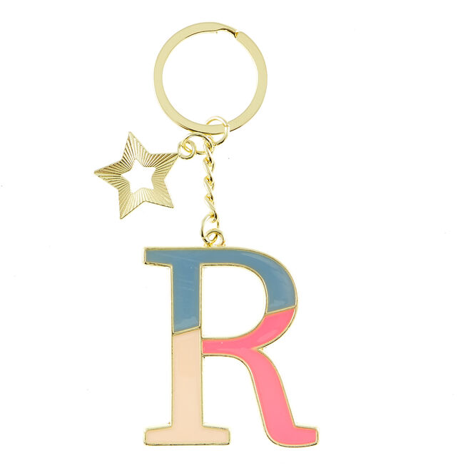 Letter R Alphabet Keyring