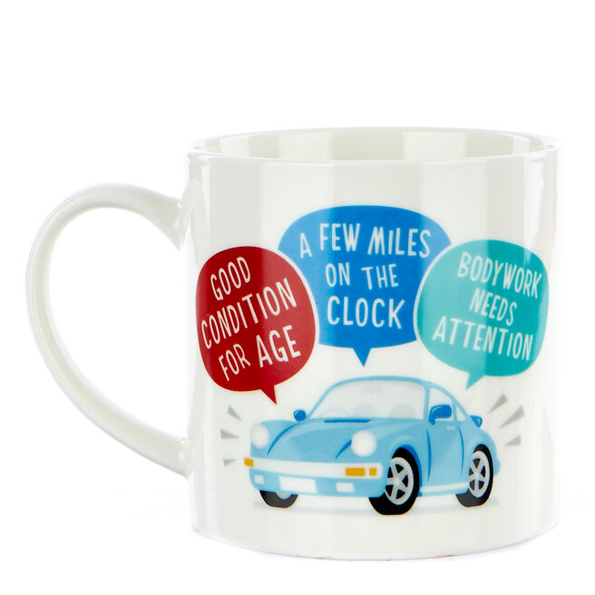 "A Few Miles On The Clock"" Car Mug"""