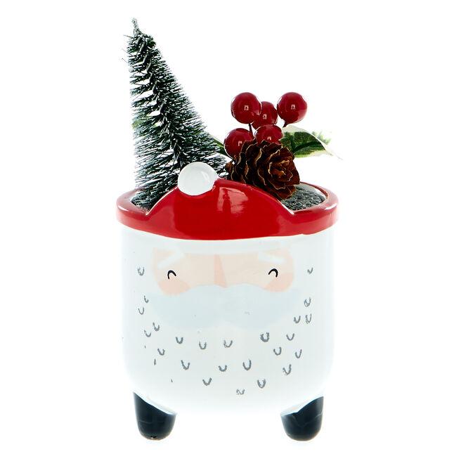 Santa Clause Christmas Planter
