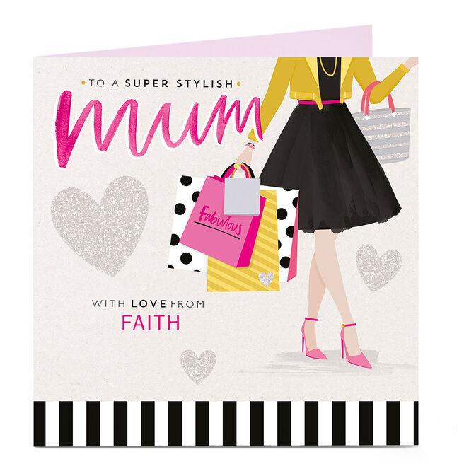Personalised Card - Super Stylish Mum