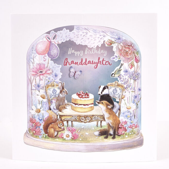 Exquisite Collection Birthday Card - Granddaughter Pop-Up