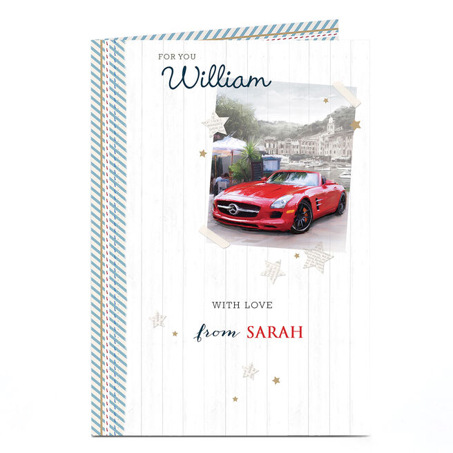 Personalised Card - Sports Car With Love