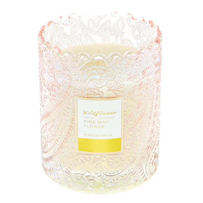 Wildflower Pink Mayflower Scented Candle