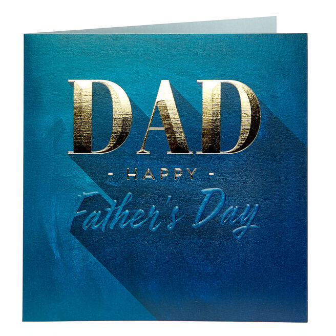 Platinum Collection Father's Day Card - Dad, Blue & Gold