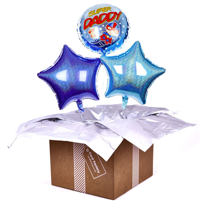 Super Daddy Balloon Bouquet - INFLATED PRE-ORDER
