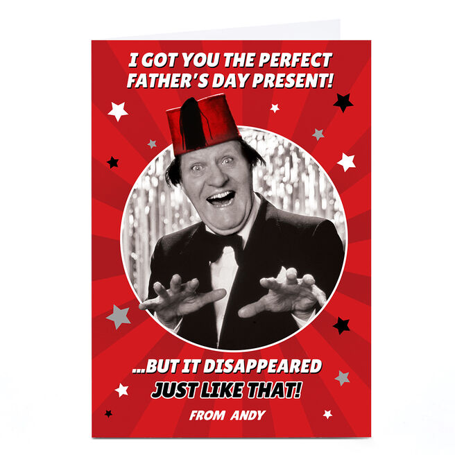 Personalised Tommy Cooper Father's Day Card - Just Like That