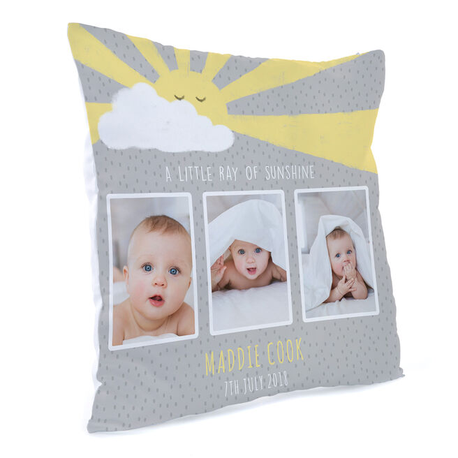 Personalised Photo Cushion - Little Ray Of Sunshine