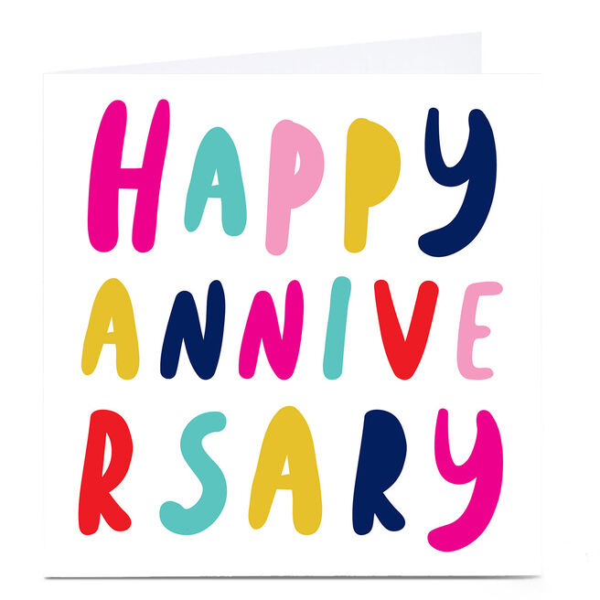 Personalised Hello Munki Card - Happy Anniversary