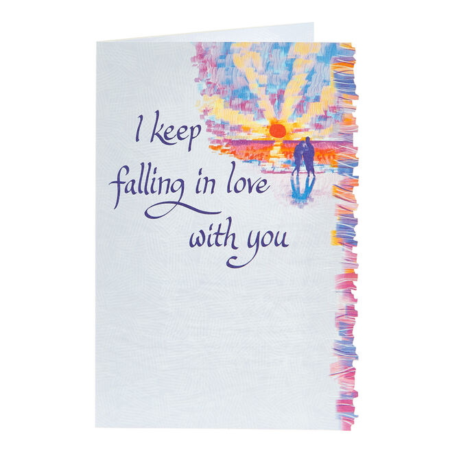 Blue Mountain Arts Card - I Keep Falling In Love With You