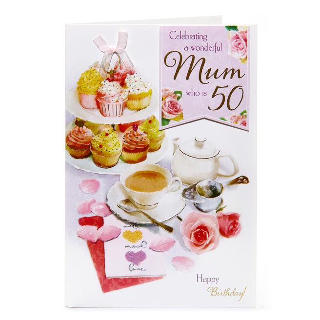 50th Birthday Card - A Wonderful Mum