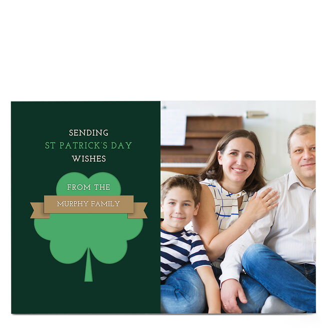 Photo St. Patrick's Day Card - From The Family