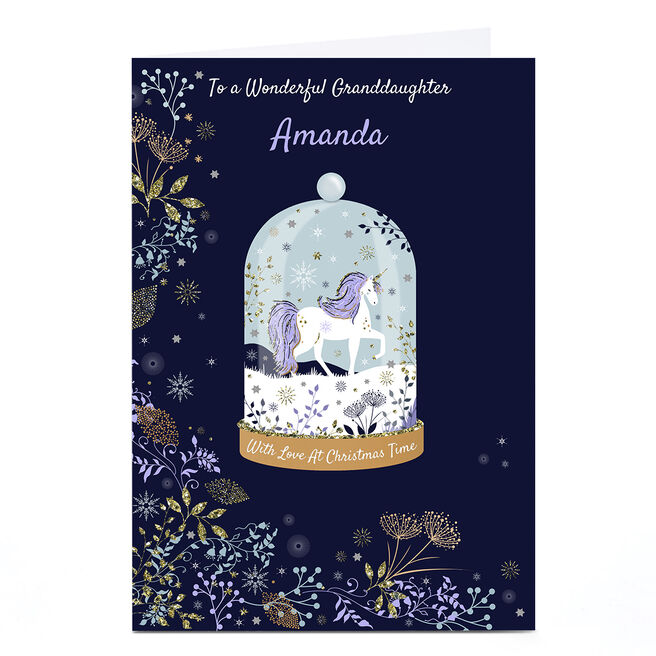 Personalised Kerry Spurling Christmas Card - Snowglobe