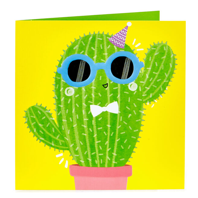 Birthday Card - Cool Cactus