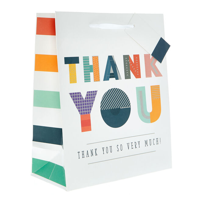 Small Portrait Gift Bag - Thank You So Very Much