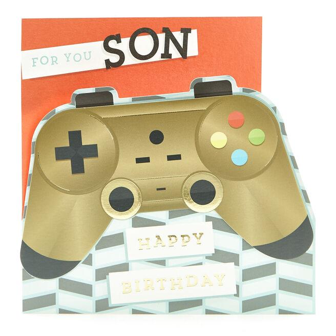 VIP Collection Birthday Card - Son, Games Controller