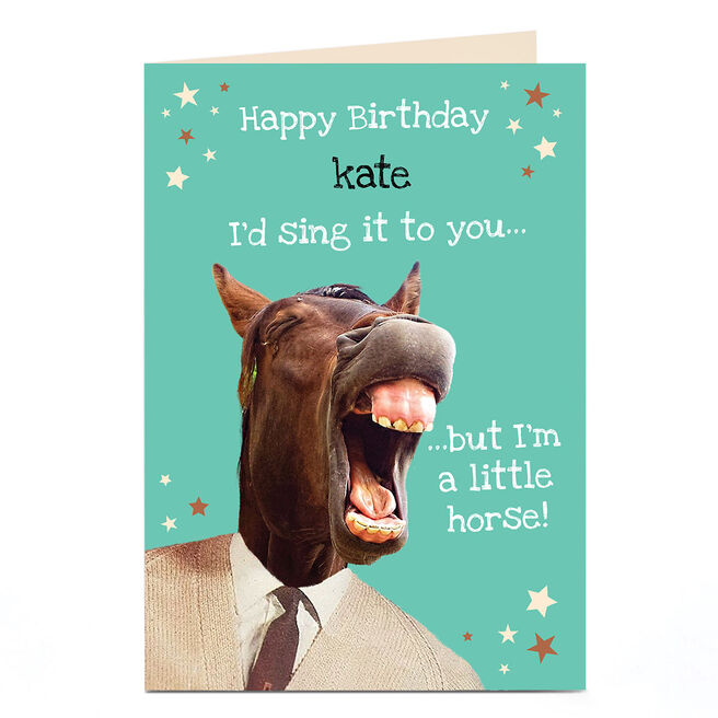 Personalised Heritage Wild Birthday Card - A Little Horse!