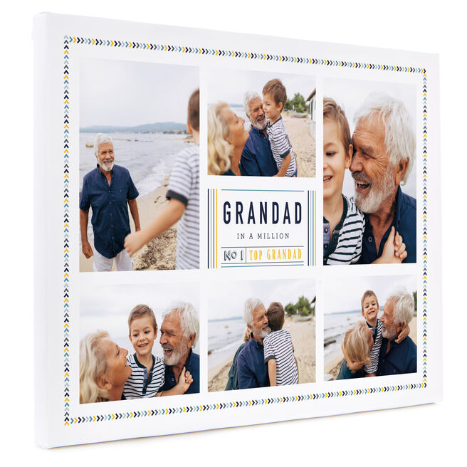 Personalised Photo Canvas 12x16 Inches (Landscape) - Grandad In A Million
