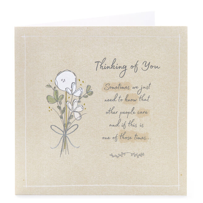 Thinking Of You Card - People Care