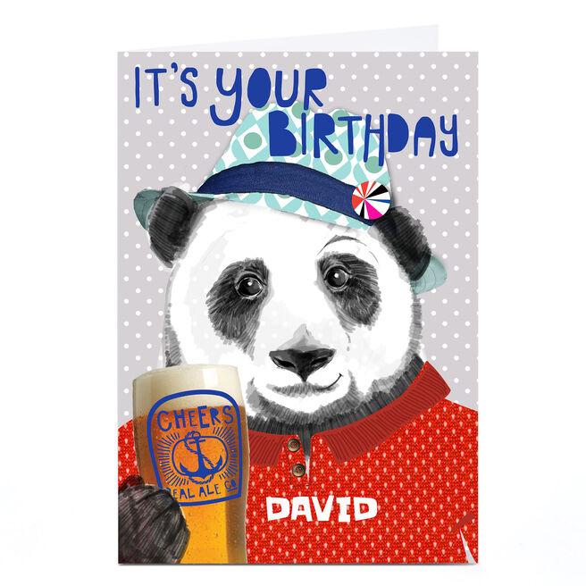 Personalised Bev Hopwood Birthday Card - It's Your Birthday, Panda