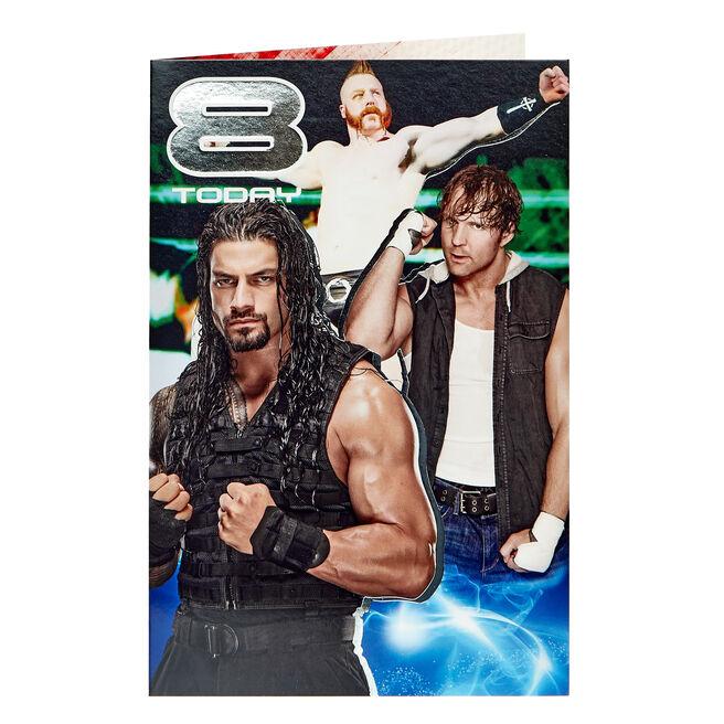 WWE 8th Birthday Card