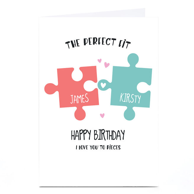 Personalised Birthday Card - Jigsaw, The Perfect Fit