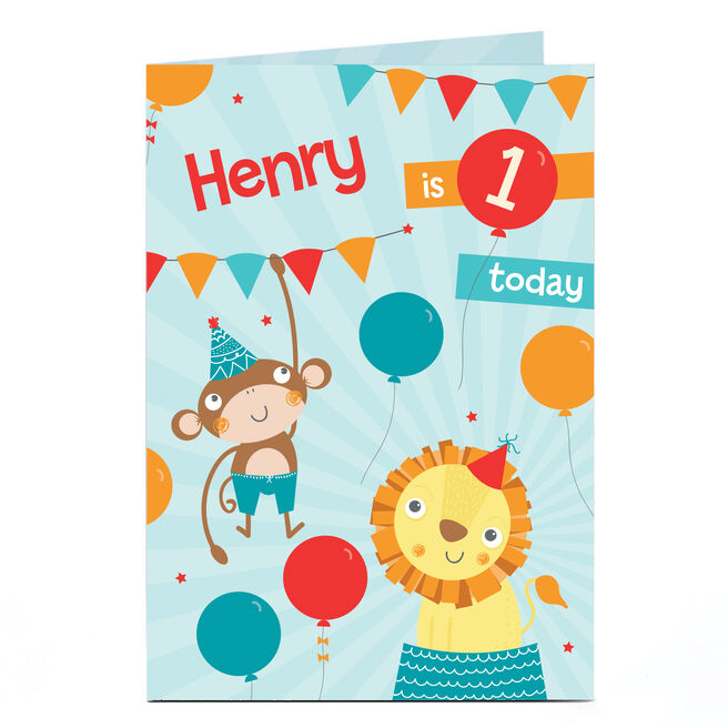 Personalised Any Age Birthday Card - Circus Party