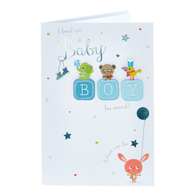 New Baby Card - Boy, Dream Come True