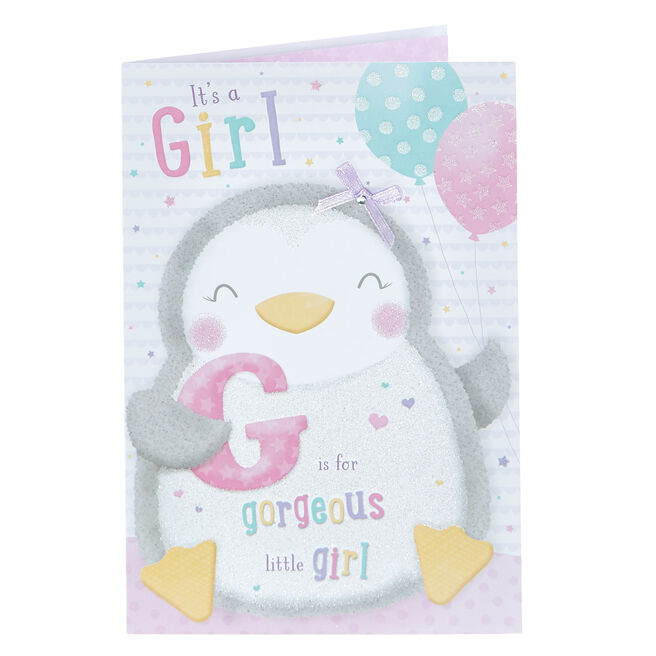 New Baby Card - Gorgeous Little Girl