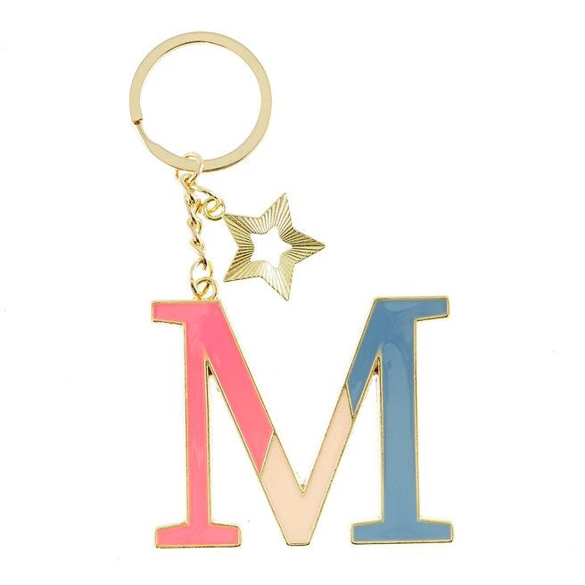 Letter M Alphabet Keyring