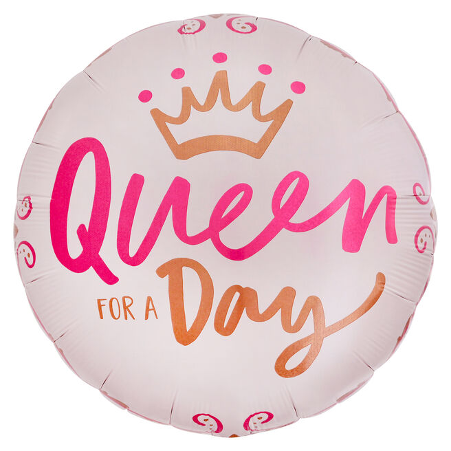 Queen For A Day 31-Inch Foil Helium Balloon