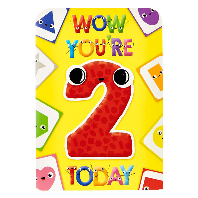 2nd Birthday Card & Memory Matching Game