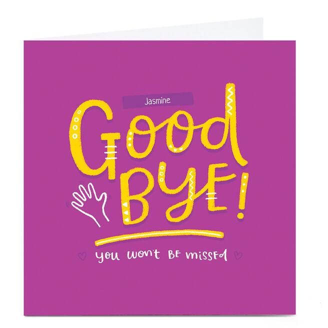 Personalised Blue Kiwi Goodbye Card - Won't Be Missed