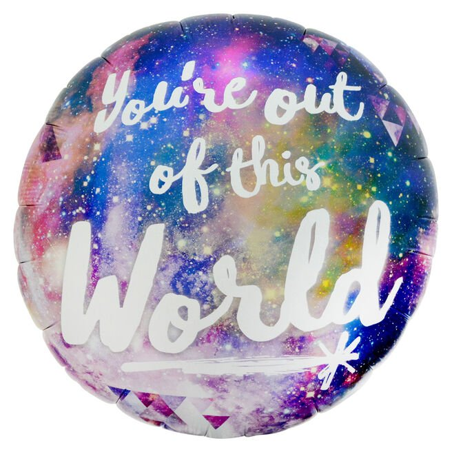 You're Out Of This World 32-Inch Foil Helium Balloon