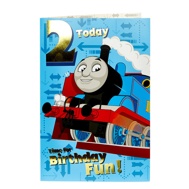 Thomas & Friends 2nd Birthday Card