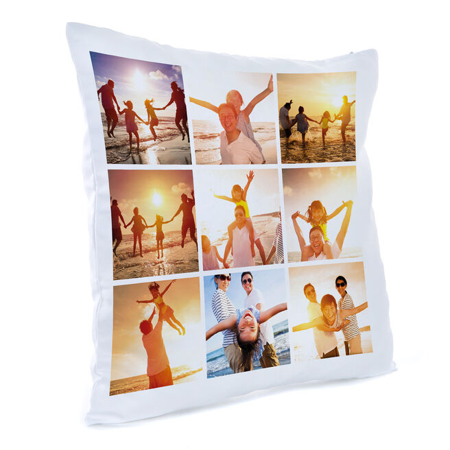 Personalised Photo Cushion - 9 Photo Upload Collage