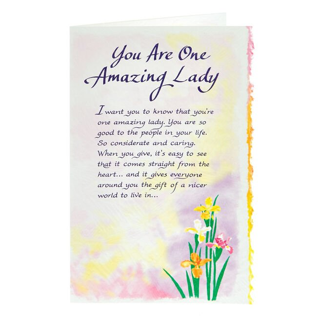 Blue Mountain Arts Card - You Are One Amazing Lady