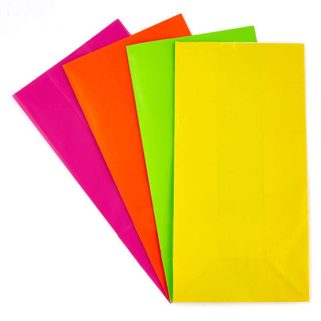 Multi-Coloured Paper Party Bags - Pack Of 10