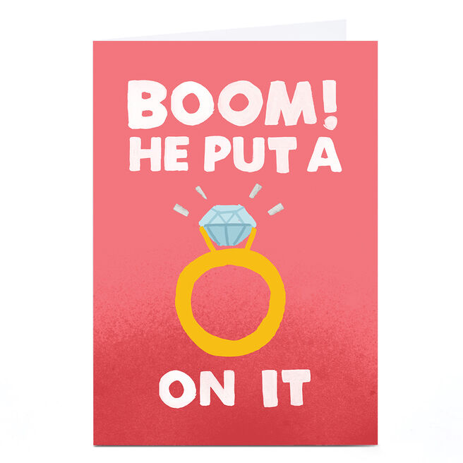 Personalised Jolly Awesome Engagement Card - BOOM!